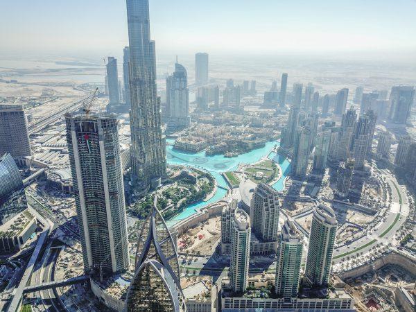 picfair 05968473 dubai burj khalifa cityscape by drone